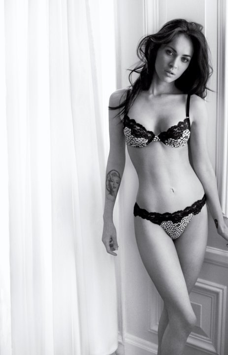 megan fox emporio armani shoot. Megan Fox in Emporio Armani Underwear Ad