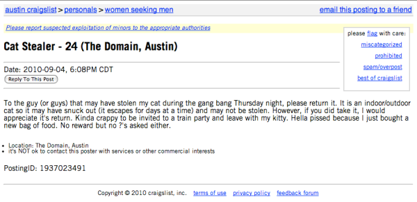 Craigslist dating austin