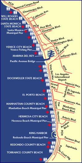 Taste Escapes Venice Beach Bike Path MANjr - Venice beach boardwalk map