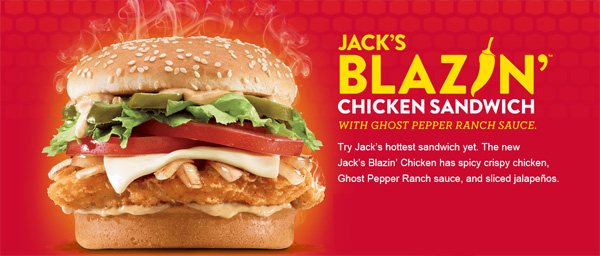Jack In The Box Has Just Released A Brand New Spicy Chicken Sandwich Nationwide Blazin Features Filet Grilled Onions