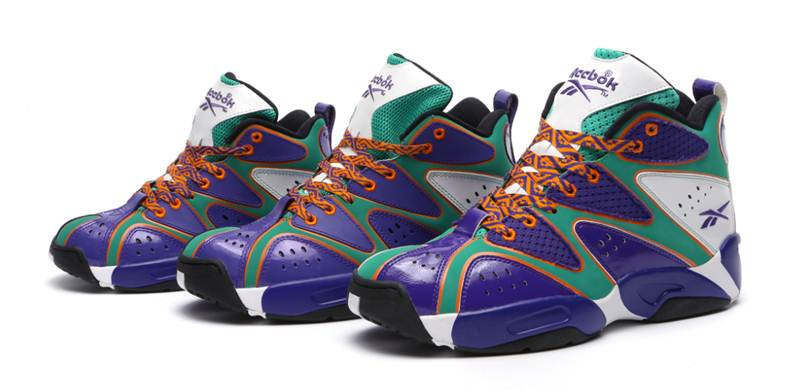 Reebok Classic introduces the Kamikaze I purple green orange – one of the  first full family packs of the year. Inspired by the legendary Shawn Kemp b6b880d18