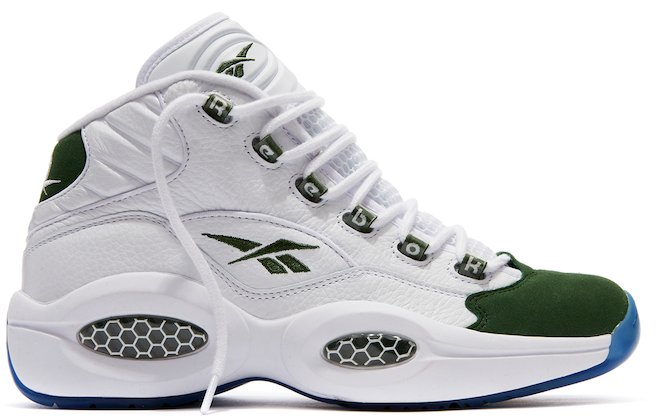 "97d74e6726e Reebok Classic Brings Back The Question Mid ""Green Fifteen"" To Celebrate  The Madness"