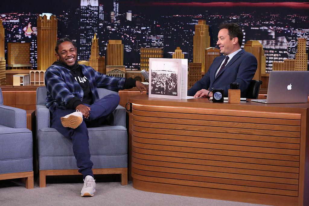 7331dc26490 Kendrick Lamar Rocks His Reebok Signature Kicks on The Tonight Show ...